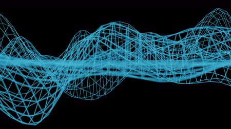 undulating : 4K Abstract Data Network. Seamless loop