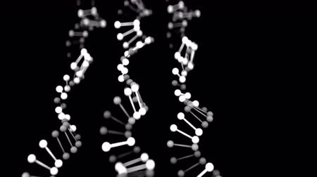 cromossoma : 4K Abstract DNA Strands. Seamless loop Vídeos