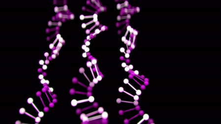 двойной : 4K Abstract DNA Strands. Seamless loop Стоковые видеозаписи