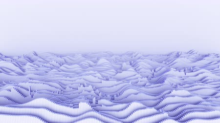 title : 4K Abstract Waveforms With Copy Space. Seamless loop