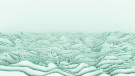 undulating : 4K Abstract Waveforms With Copy Space. Seamless loop