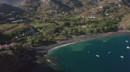 pacific islands : Stunning views of Playa Ocotal in Guanacaste, Costa Rica. Cinematic 4K drone footage.