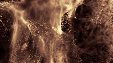 opkikker : Incredible macro view of a CG paint powder explosion. Slow motion. Seamless loop.