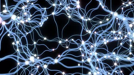 nervous system : 4K Neuronal Activity. 3D CGI animation Stock Footage