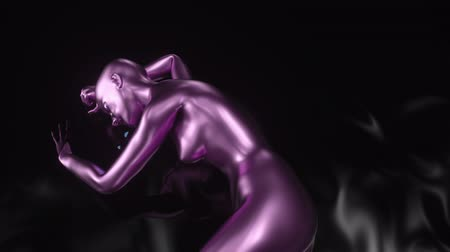 umysł : 4K Abstract A.I. Artificial Intelligence with a female form. 3D CGI animation. Wideo