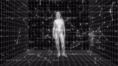 innowacje : 4K Abstract A.I. Artificial Intelligence with a female form. 3D CGI animation. Wideo
