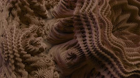 expanding : 4K Abstract Expanding Fractal Pattern. 3D CGI animation. Stock Footage