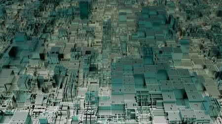 part of the frame : 4K Futuristic Abstract CPU Tech Background. 3D CGI animation. Seamless loop.
