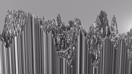 geometryczne : 4K Abstract Topographic Waveform. 3D CGI Animation. Seamless Loop.