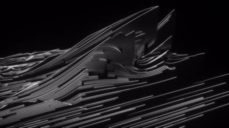 evolução : 4K Abstract Futuristic Lines Flow Across Frame. Unique CGI 3D animation. Stock Footage