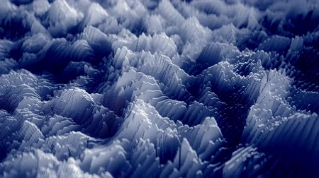 4K Topographic Waveform. 3D CGI Animation. Seamless Loop Stock mozgókép