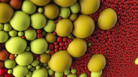 identical : 4K Abstract spheres, molecules, cells. Colorful animation suitable for a wide variety of concepts. Stock Footage