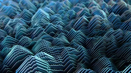 Abstract Waveform. 4K UHD animation. Seamless loop Stock mozgókép