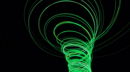 neon lights : Abstract spiral lines. 3D CGI animation. 4K Stock Footage