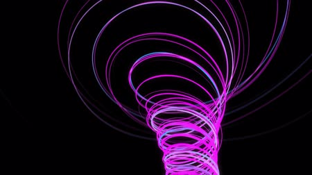 Abstract spiral lines. 3D CGI animation. 4K Stock Footage