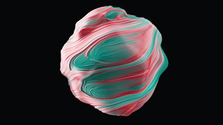 центральный : Abstract globular sphere with swirls. Seamless loop.