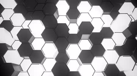 conectado : Abstract Sci-Fi Honeycomb Grid. Seamless Looping. Stock Footage