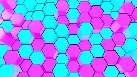 geometryczne : Abstract Sci-Fi Honeycomb Grid. Seamless Looping. Wideo