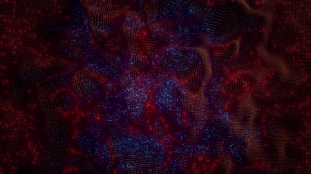 csillagjóslás : 4K Abstract Neural Net with Firing Synapses. Sci-Fi Theme. Seamless Loop.