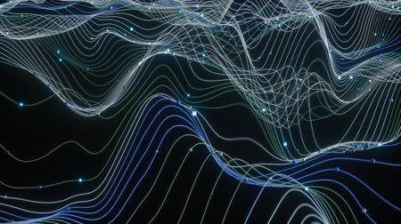 digitalizzazione : 4K Abstract Depiction of Data Flowing Over a Network. Highly unique. 3D CGI animation.