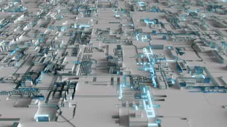 kwantum : 4K Abstract Futuristic Motherboard Circuit. Highly realistic CGI animation.