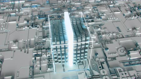 quantum computer : 4K Abstract Futuristic Motherboard Circuit. Highly realistic CGI animation.
