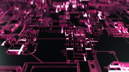 quanten : 4K Abstract Futuristic Motherboard Circuit. Sehr realistische CGI-Animation. Videos