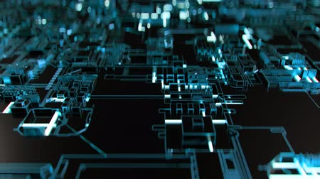 bordo : 4K Abstract Futuristic Motherboard Circuit. Highly realistic CGI animation.