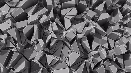 šperk : 4K Abstract Geometric Shards. 3D CGI animation. Seamless looping.