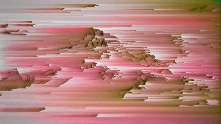 vcr : 4K Highly Stylized Data Mosh Distortion, Pixel Sorting and Static Noise. Seamless Looping. Stock Footage