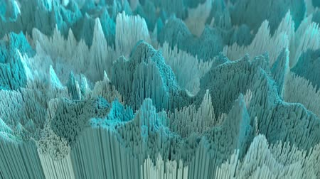 wellenform : 4K Abstract Topographic Animation. High quality 3D CGI. Seamless loop.