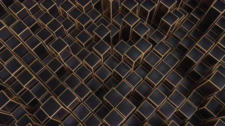 トレース : 4K Abstract Geometric Cubes. Seamless Loop. Technology Background
