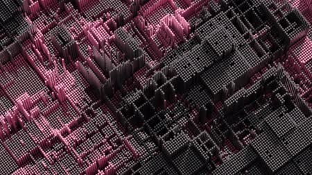 block chain : 4K Abstract Technology Background. Seamless Loop Stock Footage