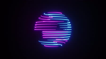 radiante : Abstract neon sphere background. Seamless loop Stock Footage