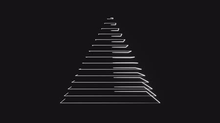 トレース : 4K Abstract Digital Neon Pyramid. Seamless Loop.