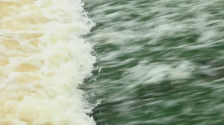 water conservation : streaming water in dam Stock Footage