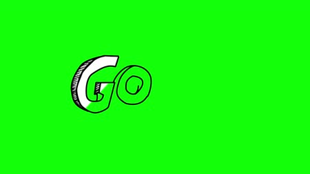 göller : Animation of the word goal gestating on green screen Stok Video
