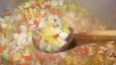 rabanete : preserving vegetables for the winter Stock Footage