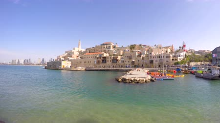 israele : Veduta di Jaffa con Tel Aviv in background