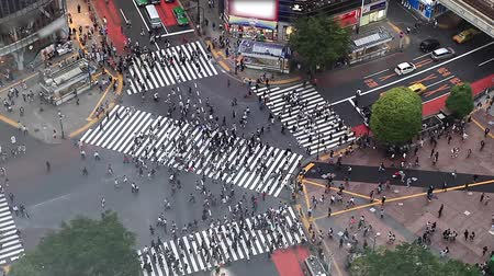 busiest : Shibuya pedestrian crossing also known as Shibuya scramble