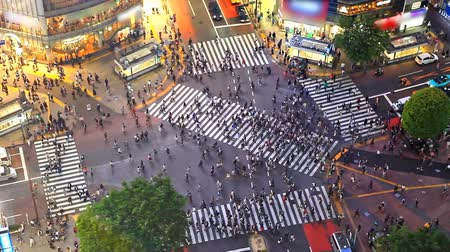 múltiplas : Shibuya pedestrian crossing also known as Shibuya scramble