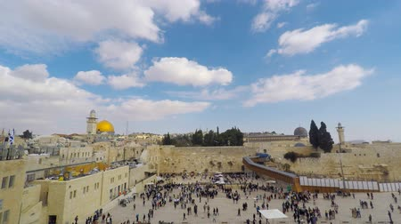 jeruzalém : Jerusalems Western wall and Dome of the rock Dostupné videozáznamy