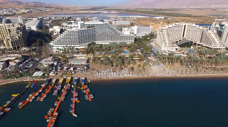 aqaba : Eilat, Israel - Aerial footage over the red sea