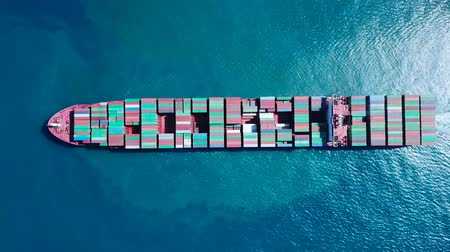 modo : Ultra large container vessel (ULCV) at sea - Aerial footage