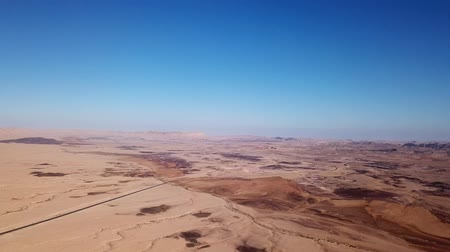 geológiai : Ramon crater in the south of Israel - Aerial footage