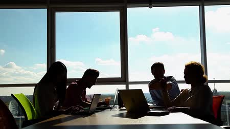notion : Business people having meeting in office Stock Footage