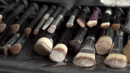 ferramenta : Fashion beauty set of makeup brushes. Beauty tools. Vídeos
