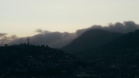 ecuador : View of the city. Night. Stock Footage
