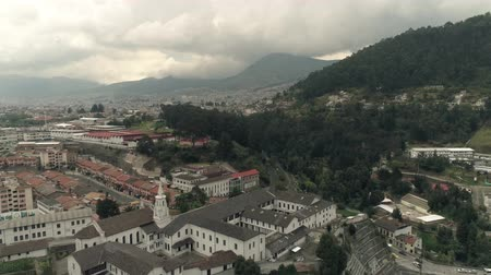 ghetto streets : Flying over the city of Quito, Ecuador