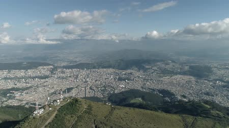 quito : View of the city and mountains. Stock Footage